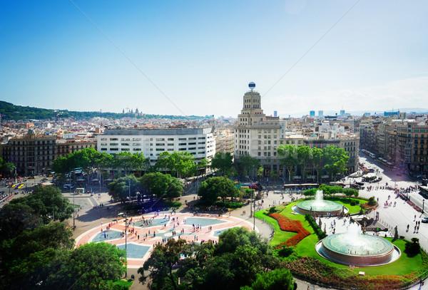 Square Catalunia, Spain Stock photo © neirfy