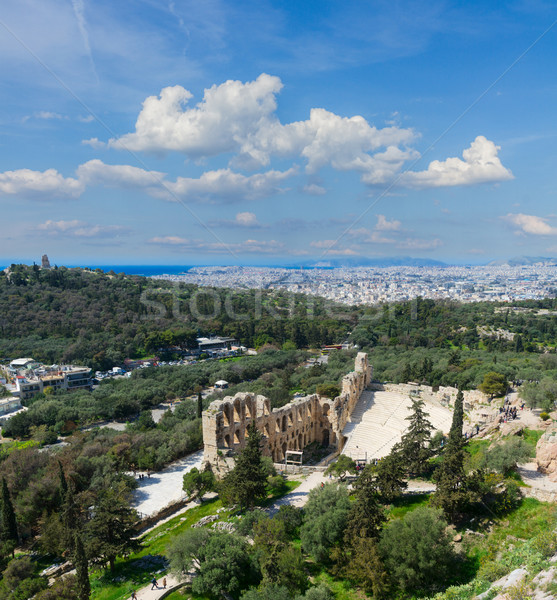 Stock photo: Herodes Atticus amphitheater of Acropolis, Athens