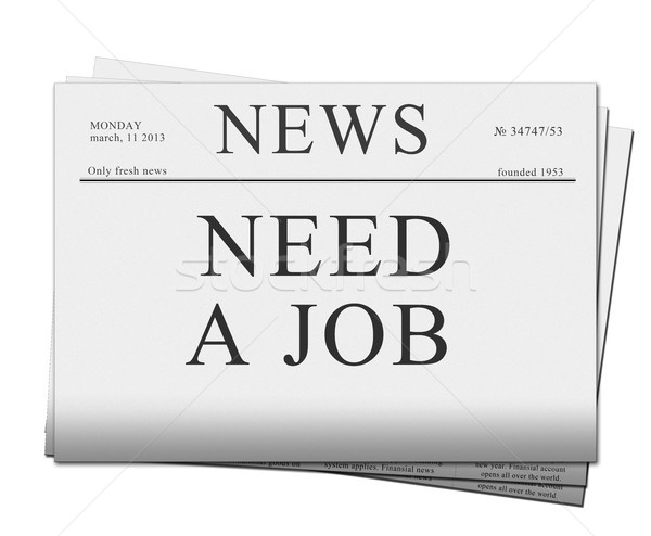 seaking for job  newspapers Stock photo © neirfy