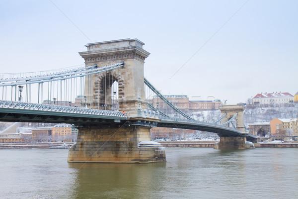 Chain bridge, Hungary Stock photo © neirfy