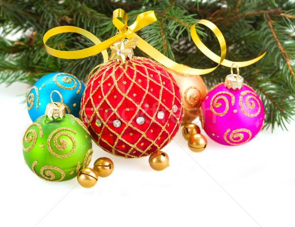 Foto stock: Navidad · hojas · perennes · árbol · aislado
