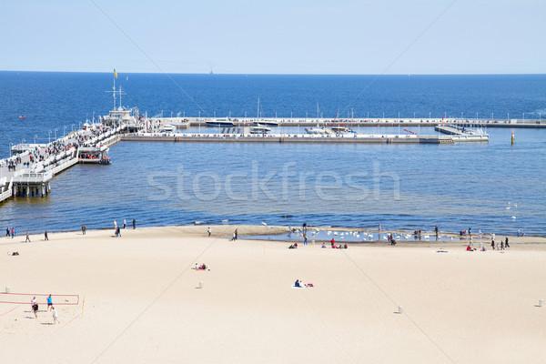 famouse pier (Molo) of Sopot Stock photo © neirfy