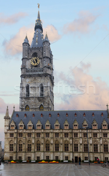 башни средневековых символ город городского кирпичных Сток-фото © neirfy