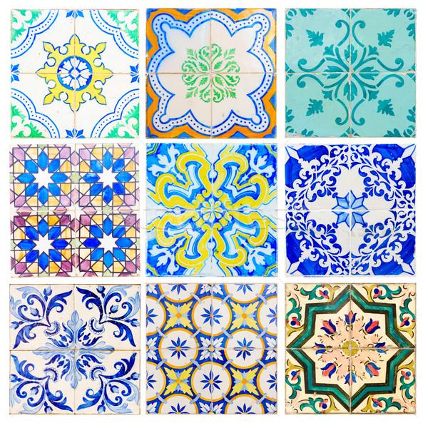 antique tiles of Sintra Stock photo © neirfy