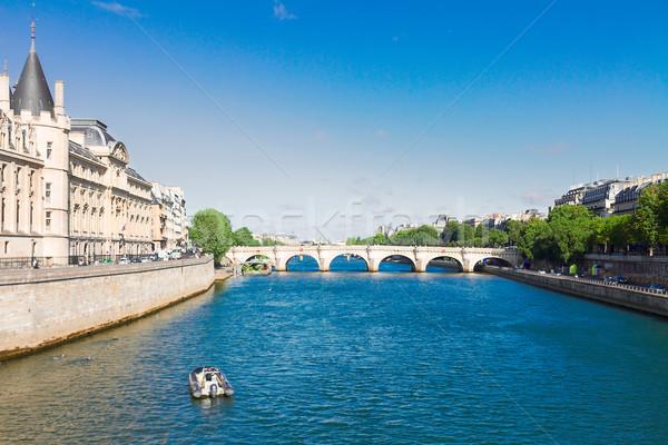 Париж Франция реке Солнечный лет Сток-фото © neirfy
