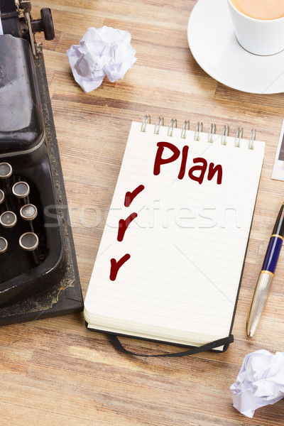 Portable annuel plan liste travail table Photo stock © neirfy