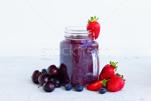 Fresh smoothy berry drink Stock photo © neirfy