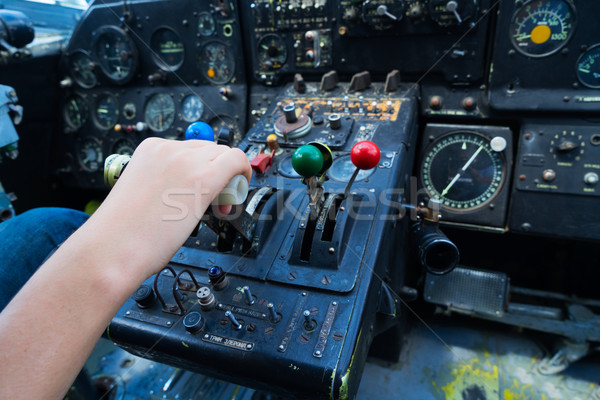 Vintage airplane dashboard Stock photo © neirfy
