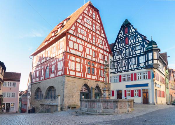 Almanya evler dünya seyahat mimari Avrupa Stok fotoğraf © neirfy