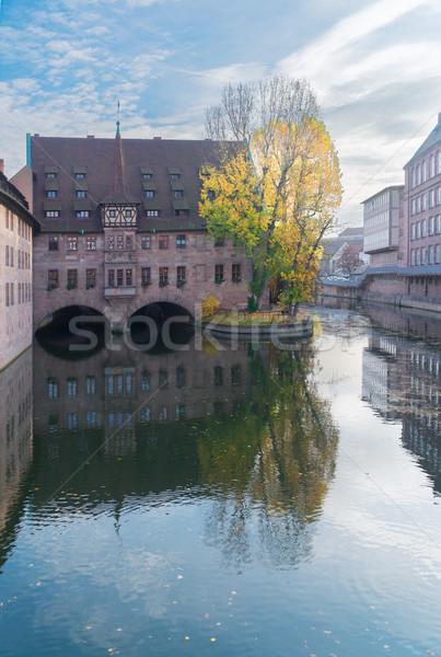 Oude binnenstad Duitsland heilige geest gebouw stad Stockfoto © neirfy
