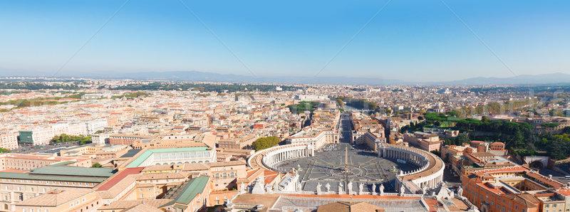 święty placu watykan Rzym Włochy widok z lotu ptaka Zdjęcia stock © neirfy
