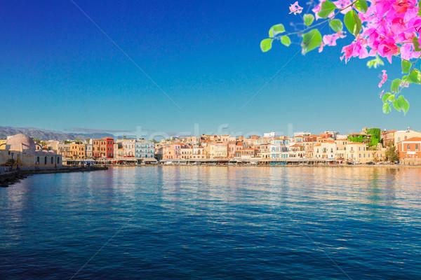 水 ギリシャ 水辺 島 花 ストックフォト © neirfy