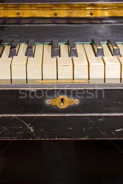 old piano keyboard Stock photo © neirfy