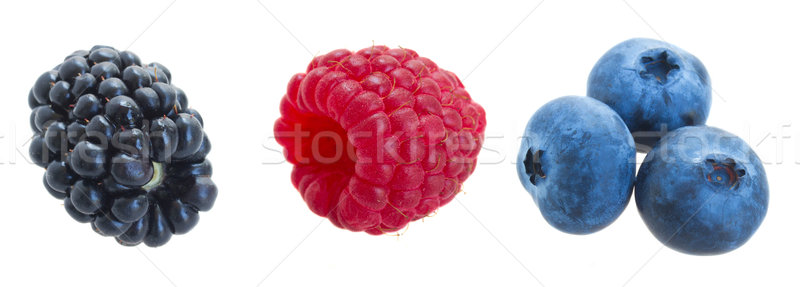 set of fresh berries Stock photo © neirfy
