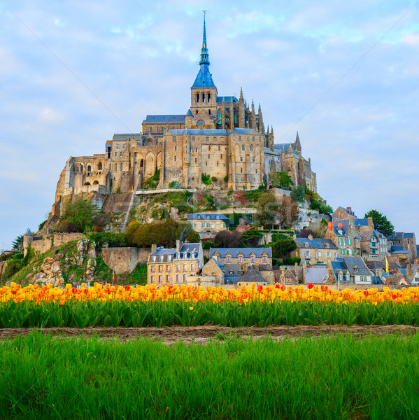 Abbey  of Mont Saint Michel, Stock photo © neirfy