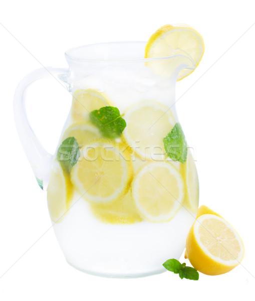 glass jar of lemonad Stock photo © neirfy