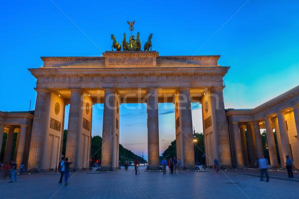 Brandenburg gate at night, Berlin Stock photo © neirfy
