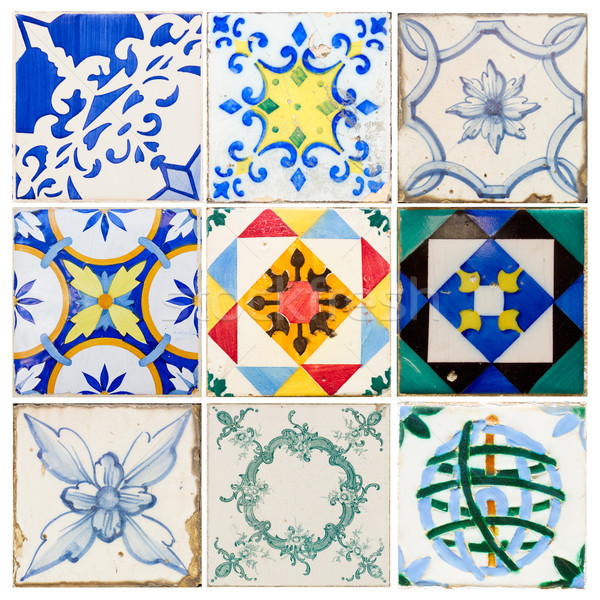 antique tiles of  Lisbon Stock photo © neirfy
