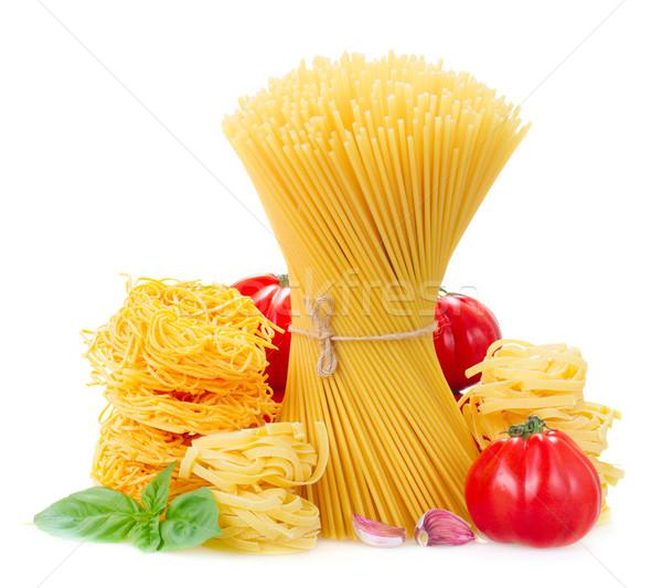 spaghetti, tonarelli and  tagliatelle Stock photo © neirfy