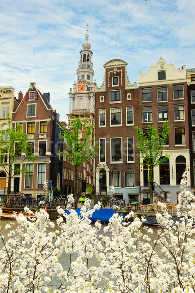 medieval houses of Amsterdam, Netherlands Stock photo © neirfy