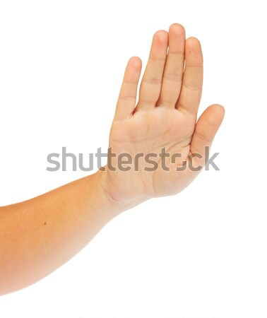 Hand gesture on white Stock photo © neirfy