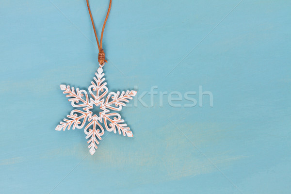 Bleu blanche Noël star bois espace de copie Photo stock © neirfy