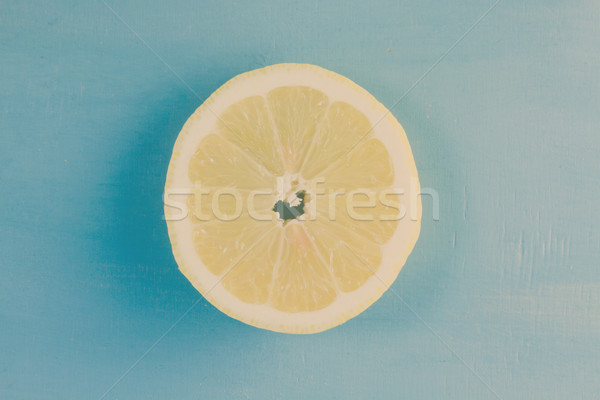 Fresh lemon fruit Stock photo © neirfy