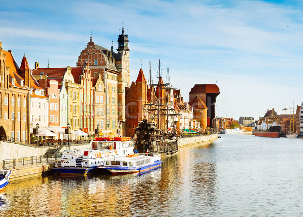 Motlawa river embankment, Gdansk Stock photo © neirfy