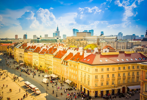old downtown  of Warsaw, Poland Stock photo © neirfy