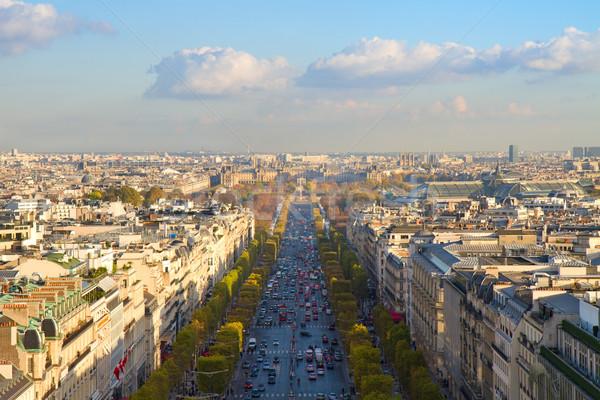 The Avenue des Champs-Elysees, Paris Stock photo © neirfy