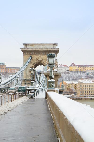 Details of Chain bridge , Hungary Stock photo © neirfy