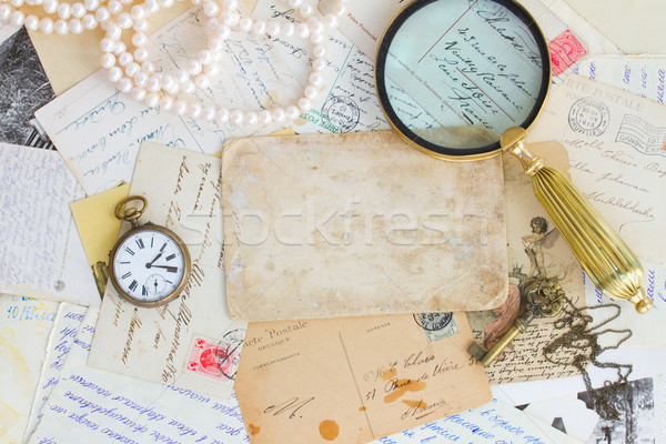 pile of old letters Stock photo © neirfy