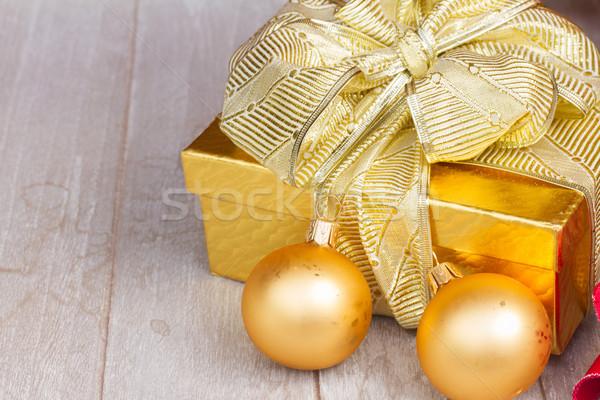 Scatola regalo Natale decorazioni legno wedding Foto d'archivio © neirfy