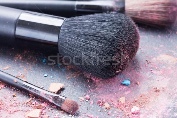 Make-up ingesteld zwarte achtergrond kleur Stockfoto © neirfy