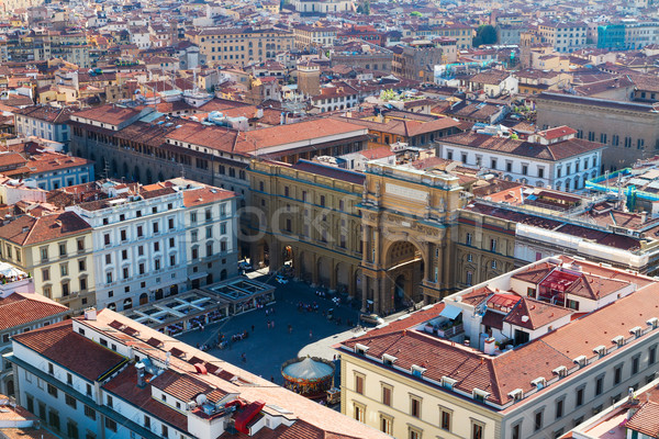 square of Republic, Florence, Italy Stock photo © neirfy