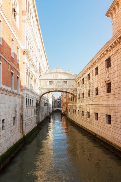 ストックフォト: 橋 · ヴェネツィア · イタリア · 有名な · 運河 · 水