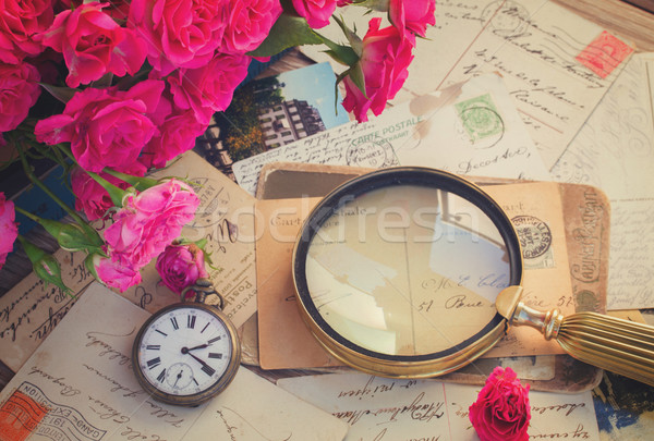 loupe old letter Stock photo © neirfy