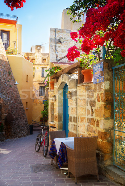 cosy street of Chania, Crete, Greece Stock photo © neirfy