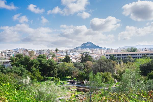 Cityscape colina céu cidade verão viajar Foto stock © neirfy
