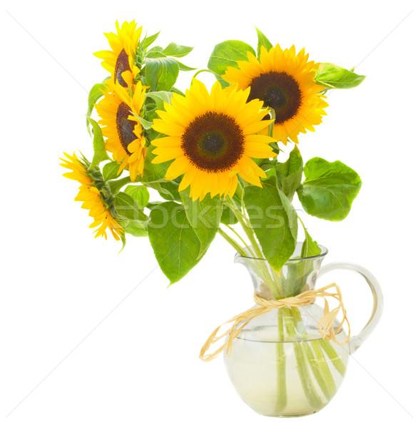sunflowers in vase Stock photo © neirfy