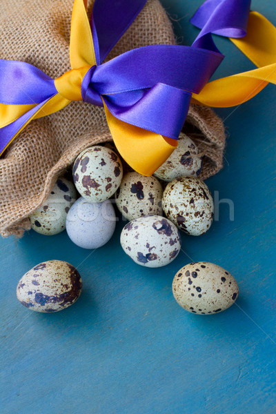 quail egg in bag Stock photo © neirfy