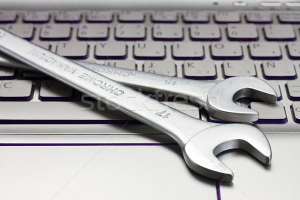 Elektronische technische ondersteuning kantoor internet werk Stockfoto © neirfy