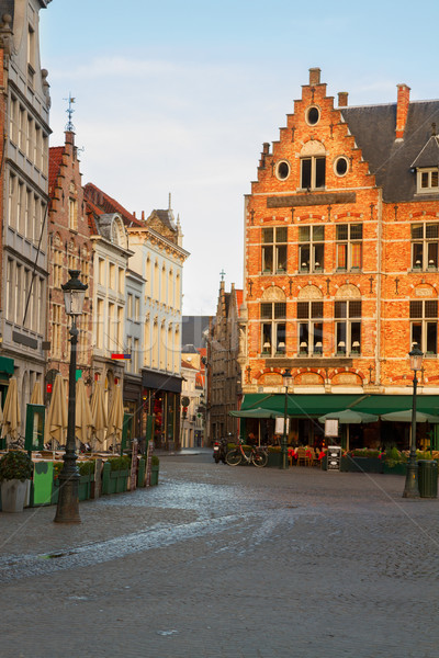 средневековых зданий рынке квадратный небе здании Сток-фото © neirfy