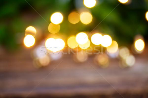 christmas  lights defocused background Stock photo © neirfy