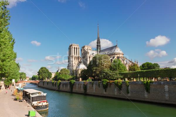 Catedral de Notre Dame Paris França rio verão dia Foto stock © neirfy