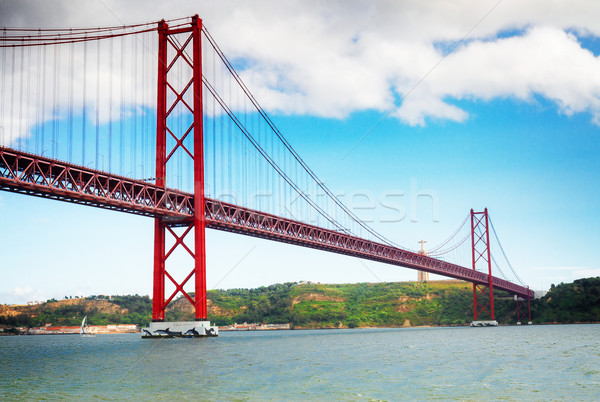 Stockfoto: Brug · Lissabon · rivier · Portugal · retro · water
