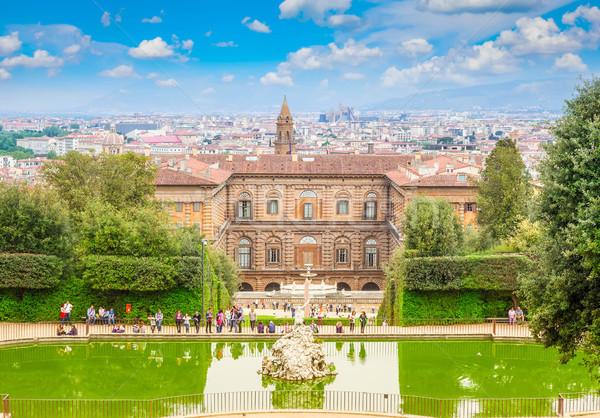 Pałac widoku ogród panoramę Florencja Włochy Zdjęcia stock © neirfy