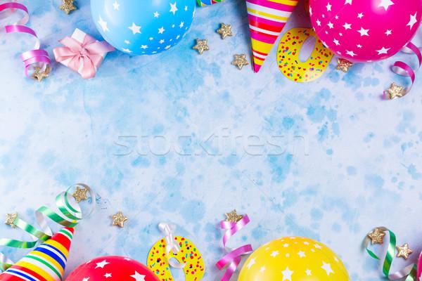 Brilhante colorido carnaval festa cena balões Foto stock © neirfy