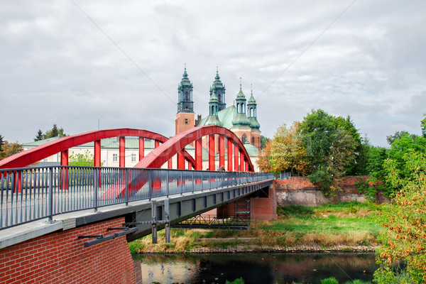 Giordania ponte Polonia vecchio cattedrale chiesa Foto d'archivio © neirfy