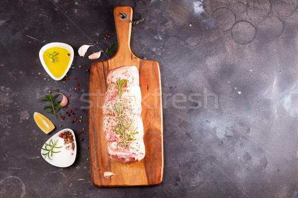 Raw lamb roll Stock photo © neirfy